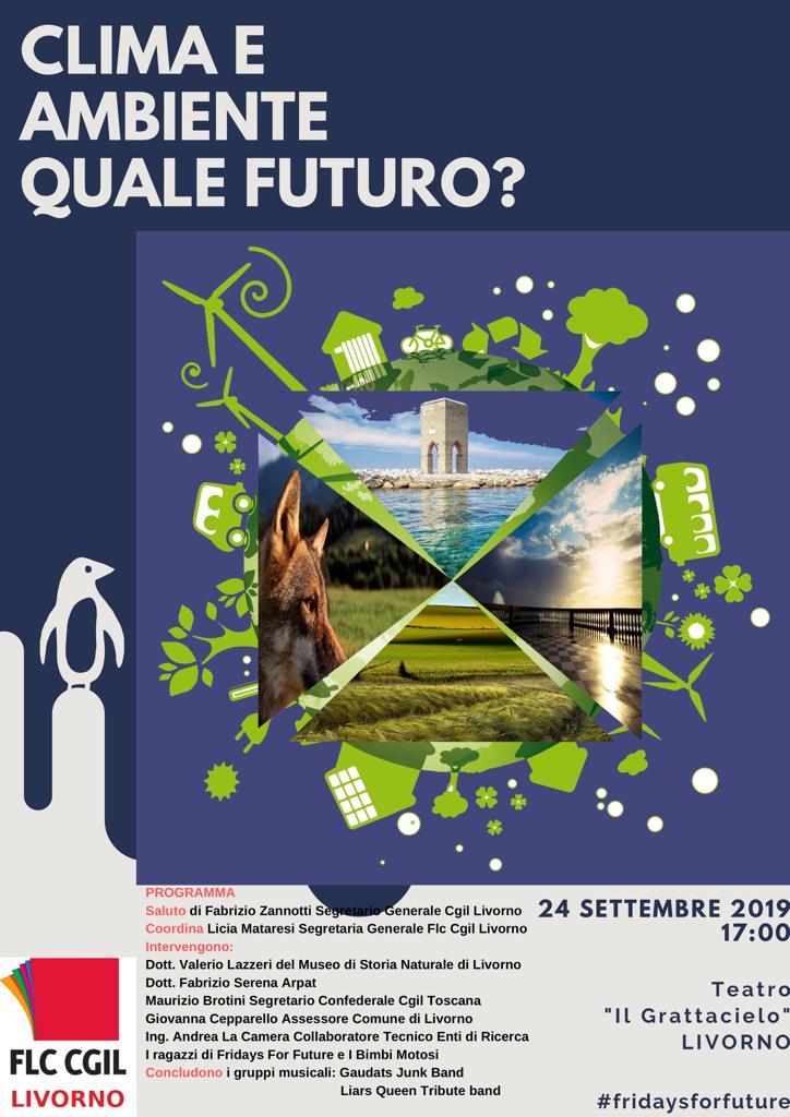 Global Climate Strike: l'iniziativa della FLC CGIL Livorno